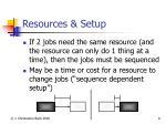 resources setup