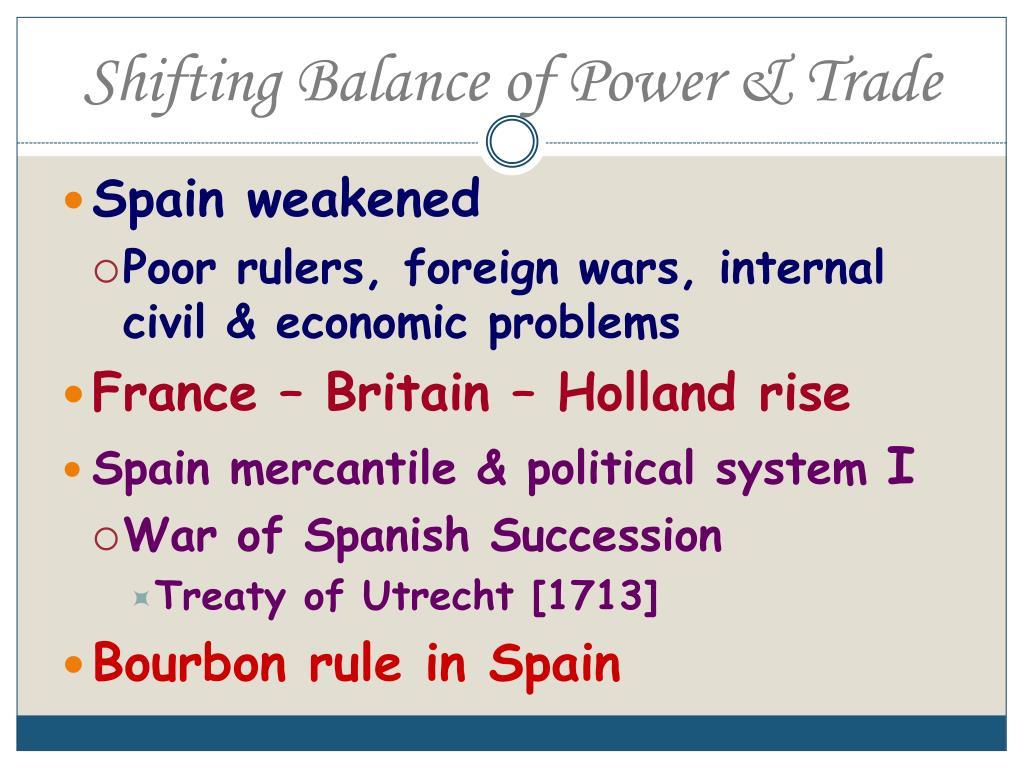 Shifting Balance of Power & Trade