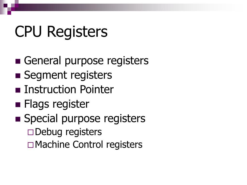 CPU Registers