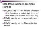 data manipulation instructions cont d37