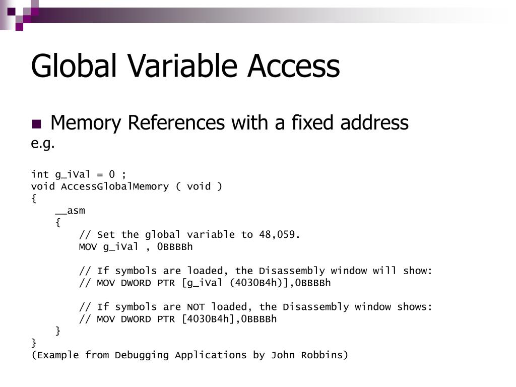 Global Variable Access