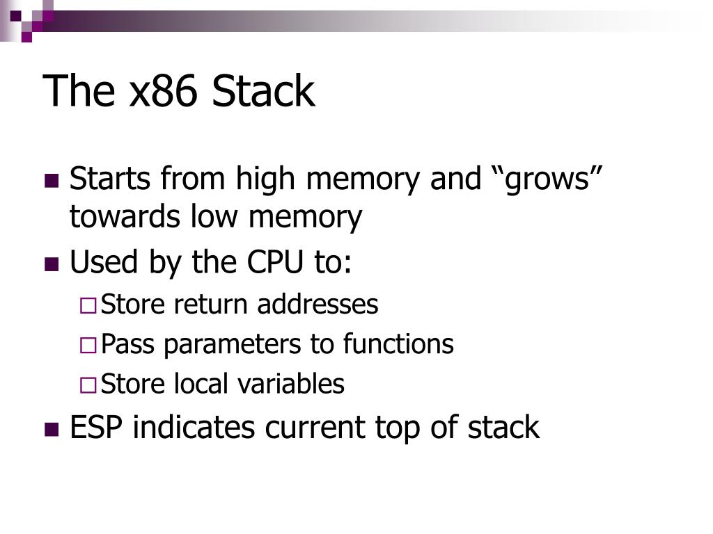 The x86 Stack
