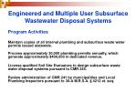 engineered and multiple user subsurface wastewater disposal systems4
