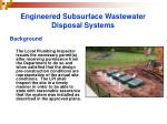 engineered subsurface wastewater disposal systems12