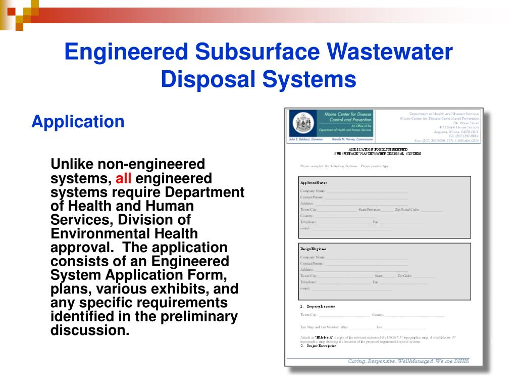 Engineered Subsurface Wastewater