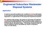 engineered subsurface wastewater disposal systems22