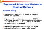 engineered subsurface wastewater disposal systems27