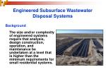 engineered subsurface wastewater disposal systems6