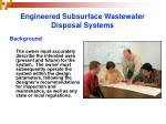 engineered subsurface wastewater disposal systems8
