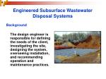 engineered subsurface wastewater disposal systems9
