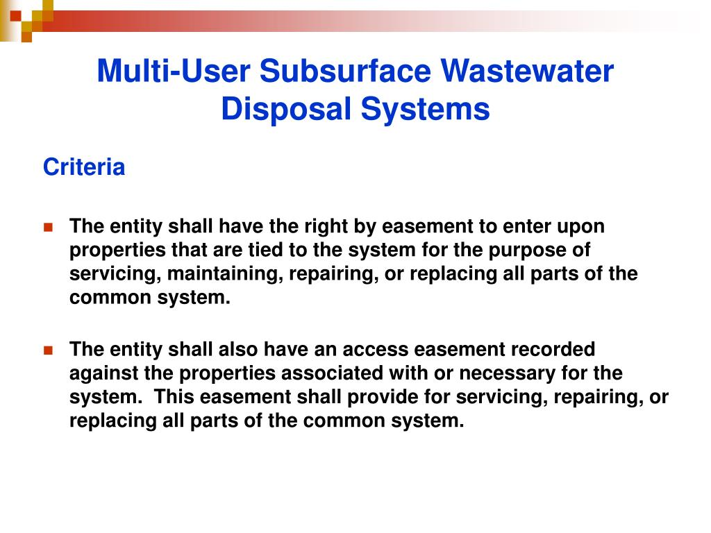 Multi-User Subsurface Wastewater