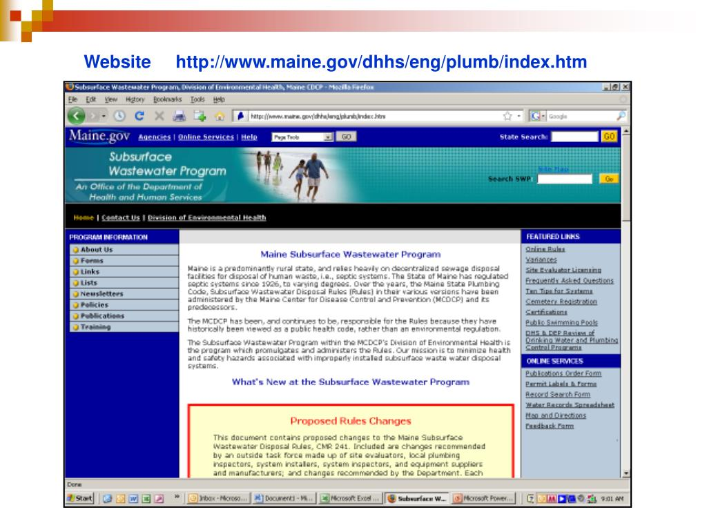 Website     http://www.maine.gov/dhhs/eng/plumb/index.htm