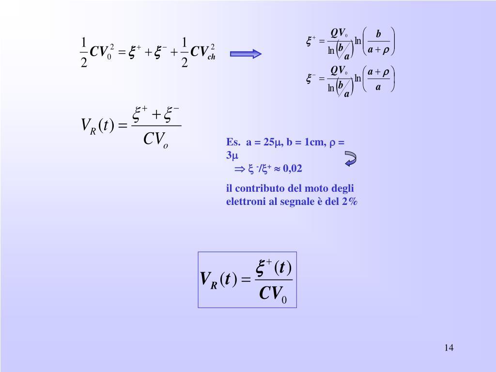Es.  a = 25, b = 1cm,  = 3