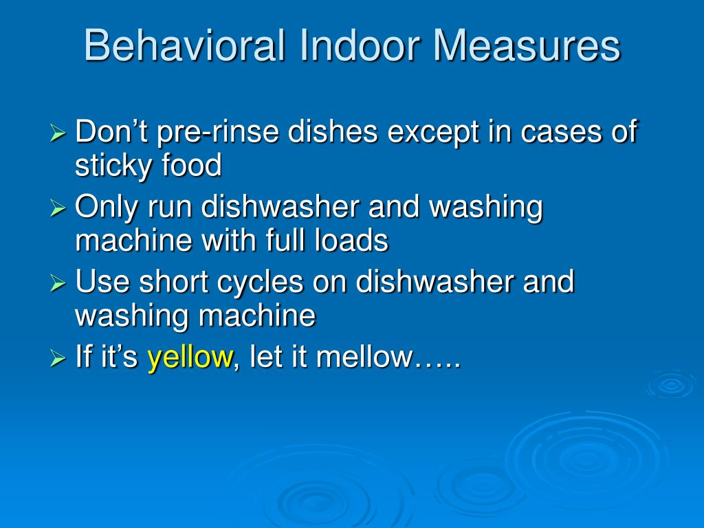Behavioral Indoor Measures
