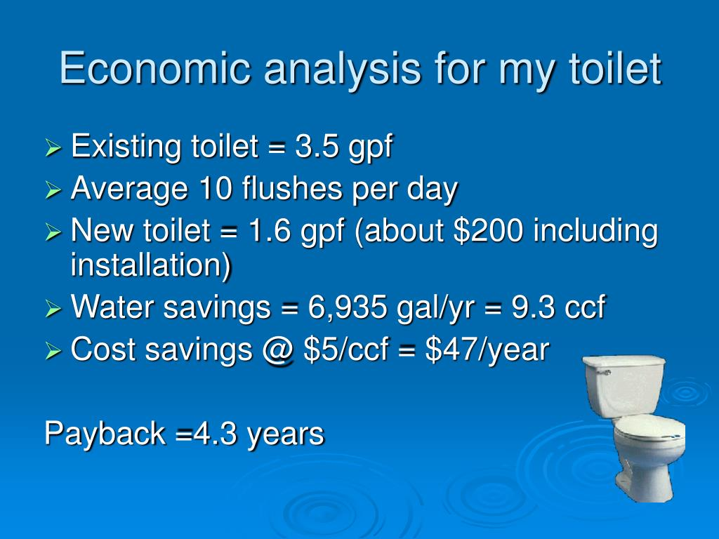Economic analysis for my toilet