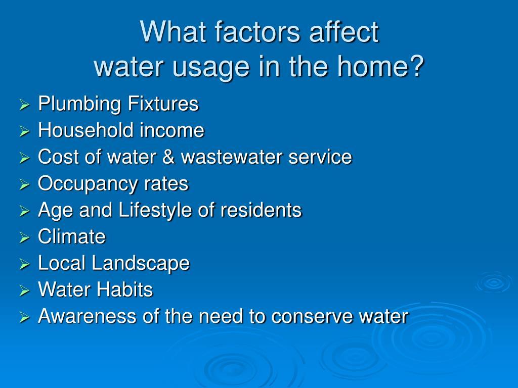 What factors affect