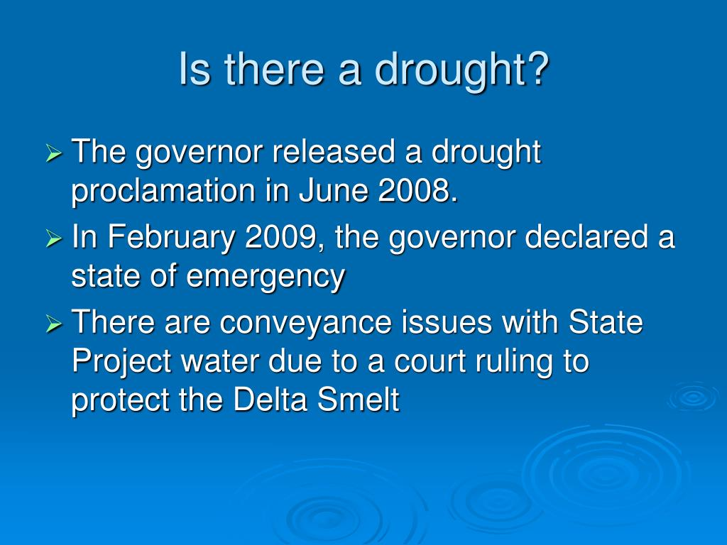 Is there a drought?