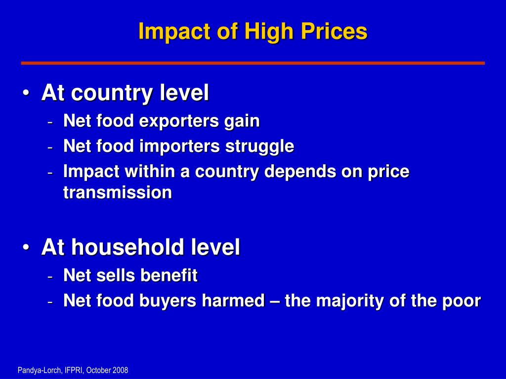 Impact of High Prices