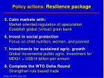 policy actions resilience package