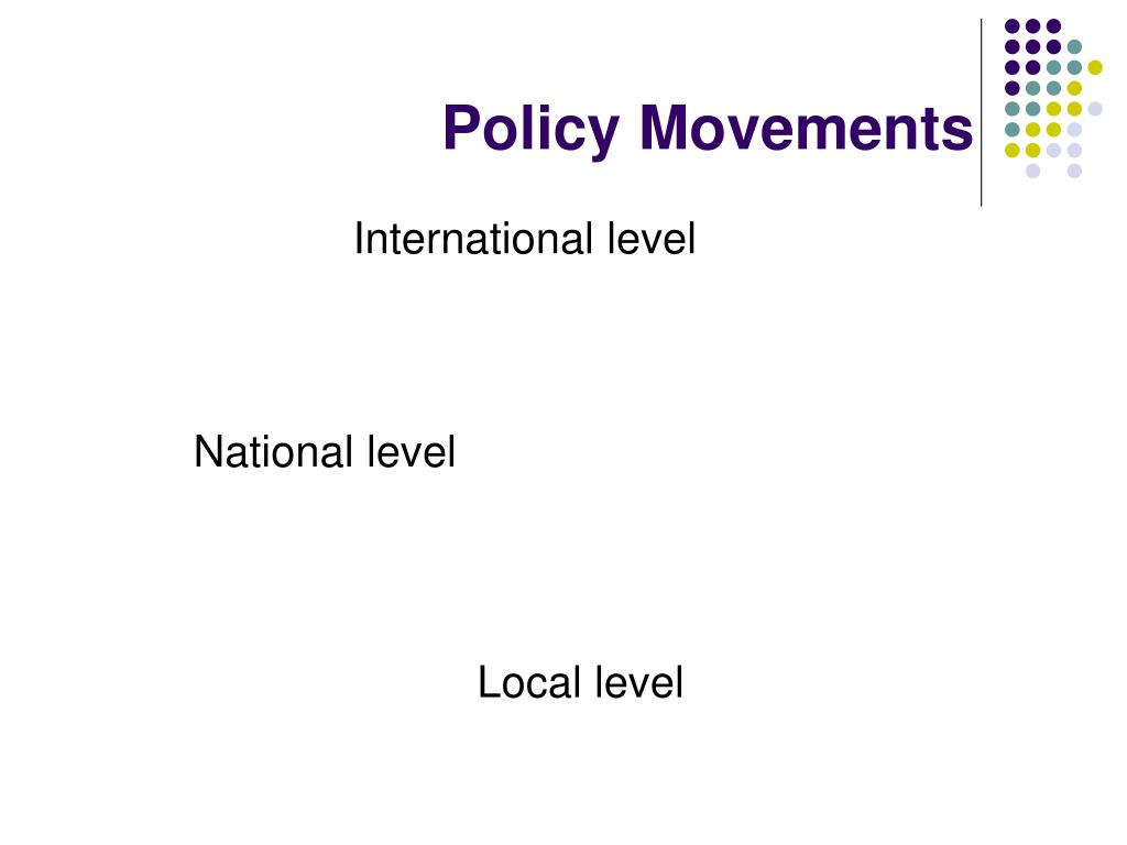 Policy Movements