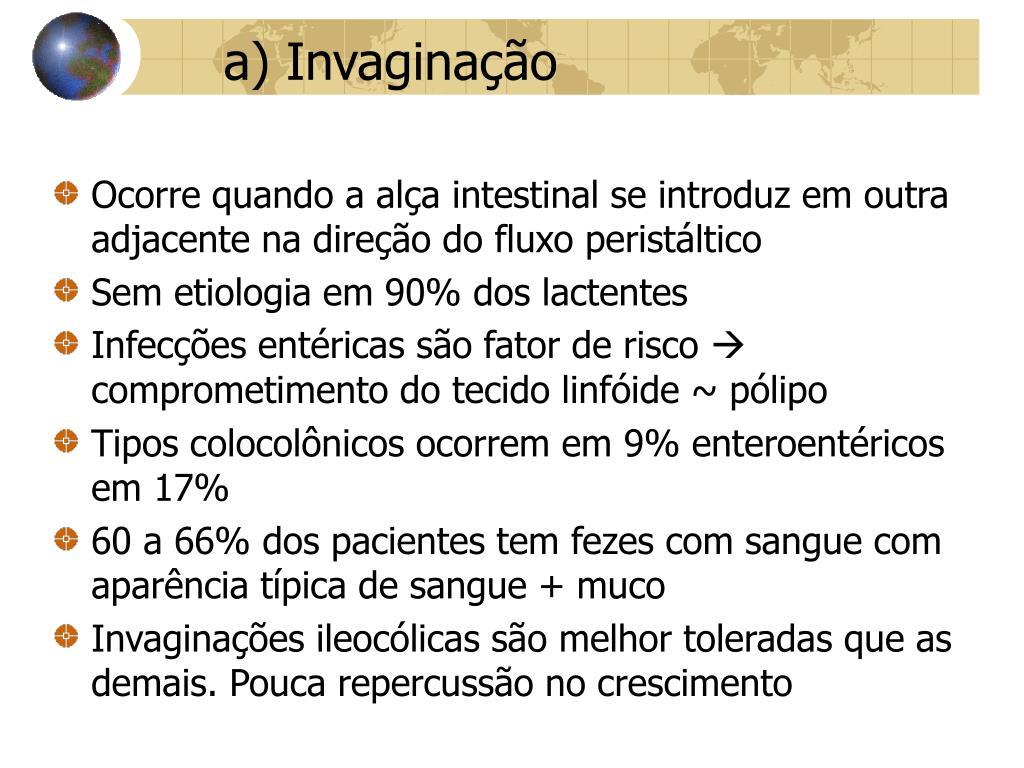 a) Invaginação