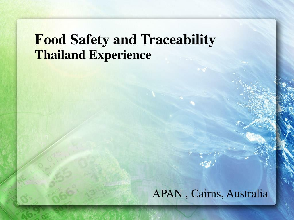 Food Safety and Traceability