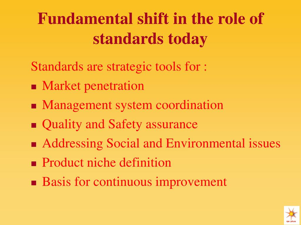 Fundamental shift in the role of