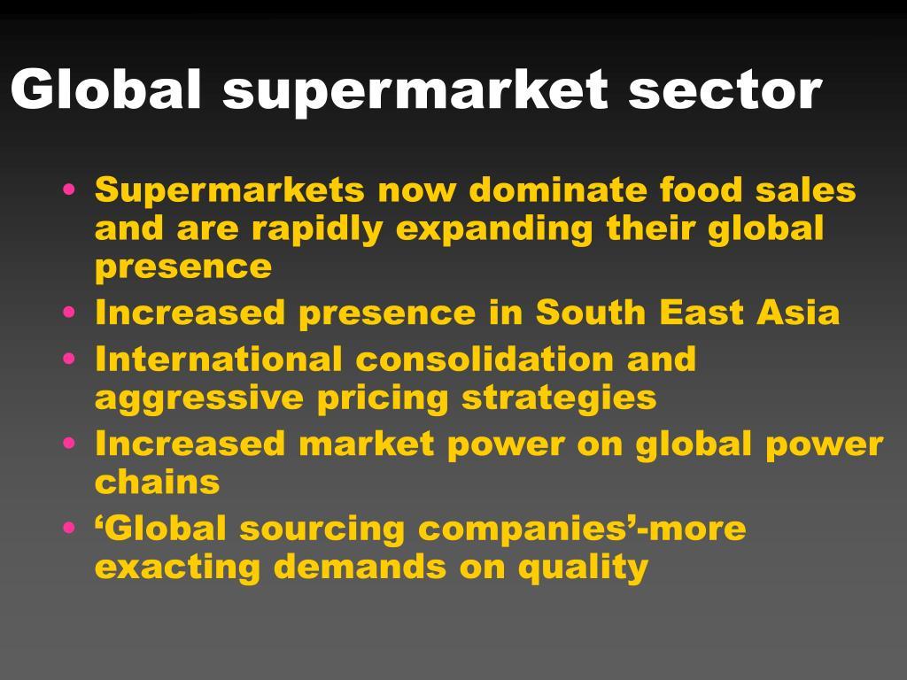 Global supermarket sector