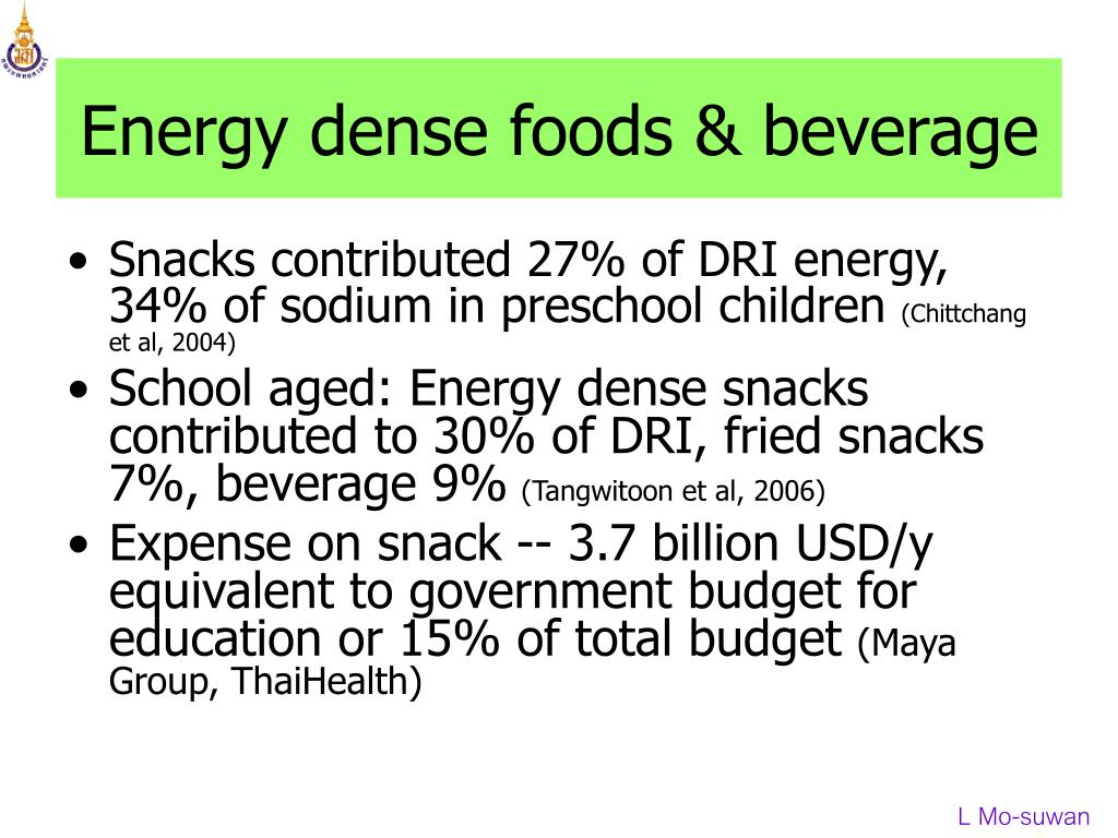 Energy dense foods & beverage