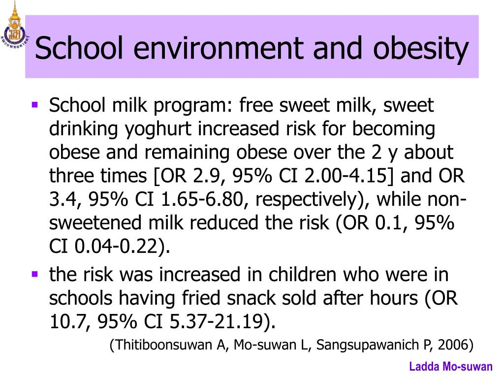 School environment and obesity