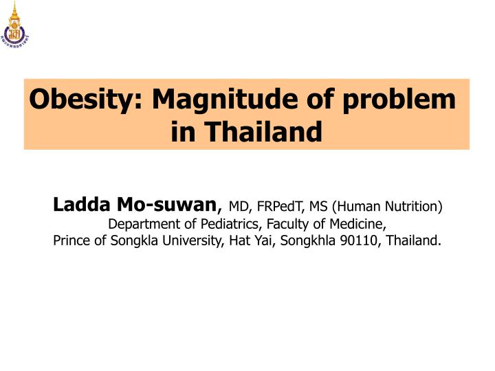 Obesity: Magnitude of problem