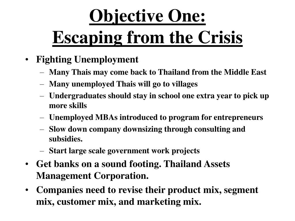 Objective One: