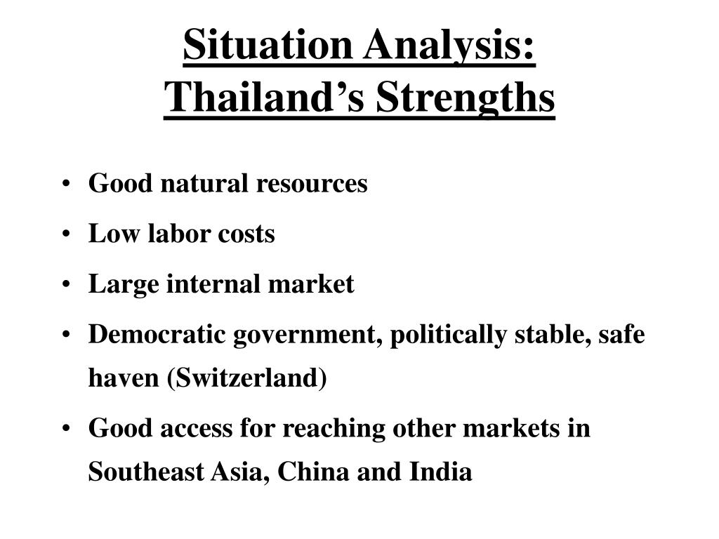 Situation Analysis: