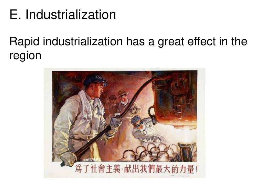 E. Industrialization