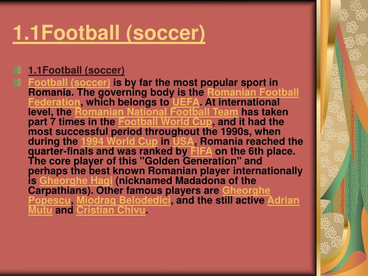 1.1Football (soccer)