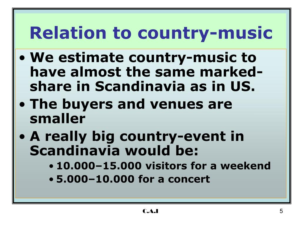 Relation to country-music