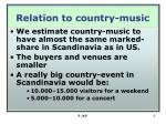 relation to country music