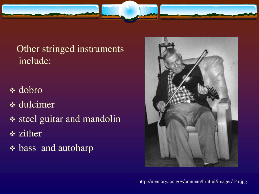 Other stringed instruments include: