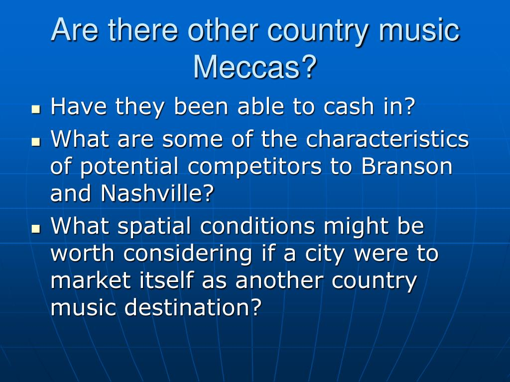 Are there other country music Meccas?