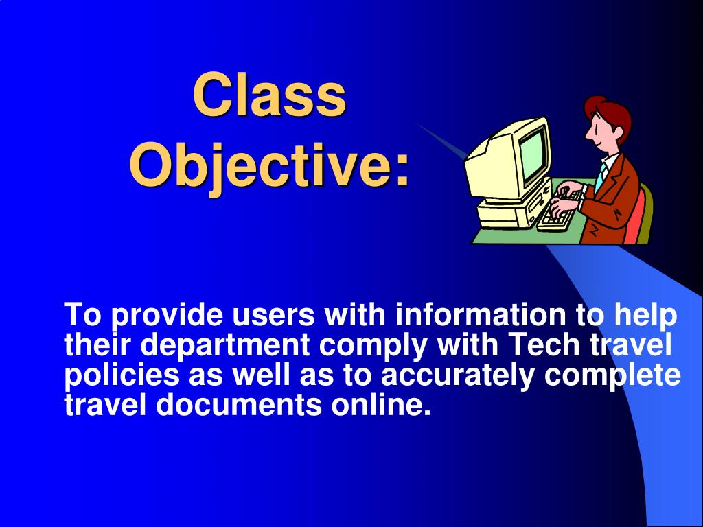 Class Objective: