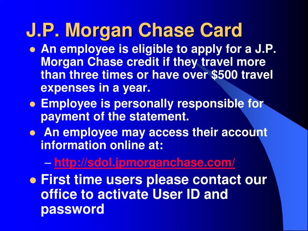 J.P. Morgan Chase Card