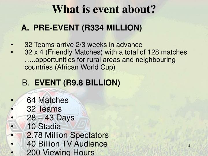 What is event about?