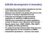 asean development in biosafety