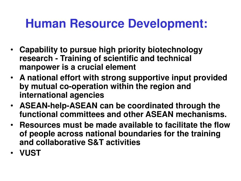 Human Resource Development: