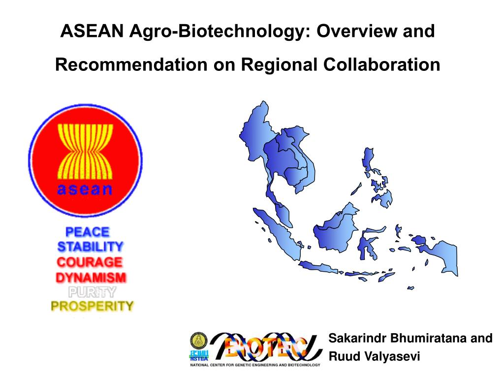 ASEAN Agro-Biotechnology: Overview and Recommendation on Regional Collaboration