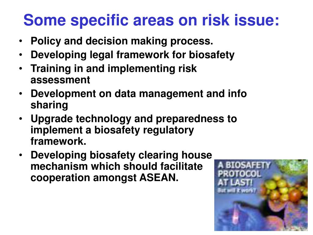 Some specific areas on risk issue: