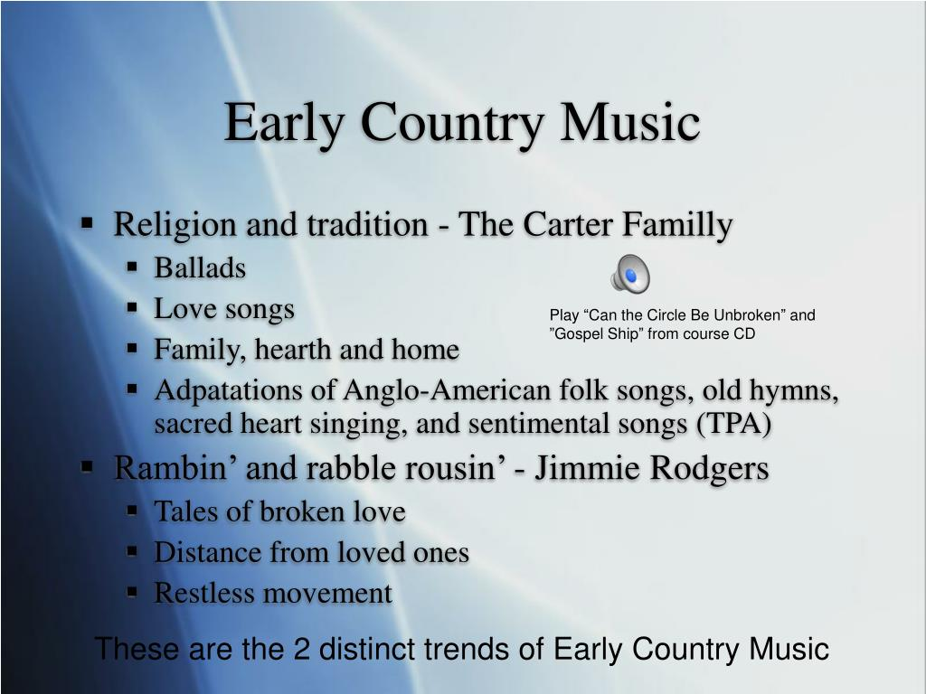 Early Country Music