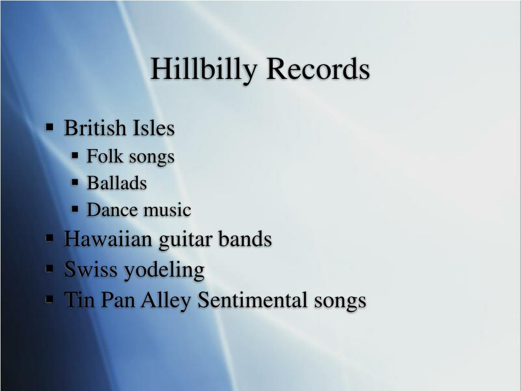 Hillbilly Records