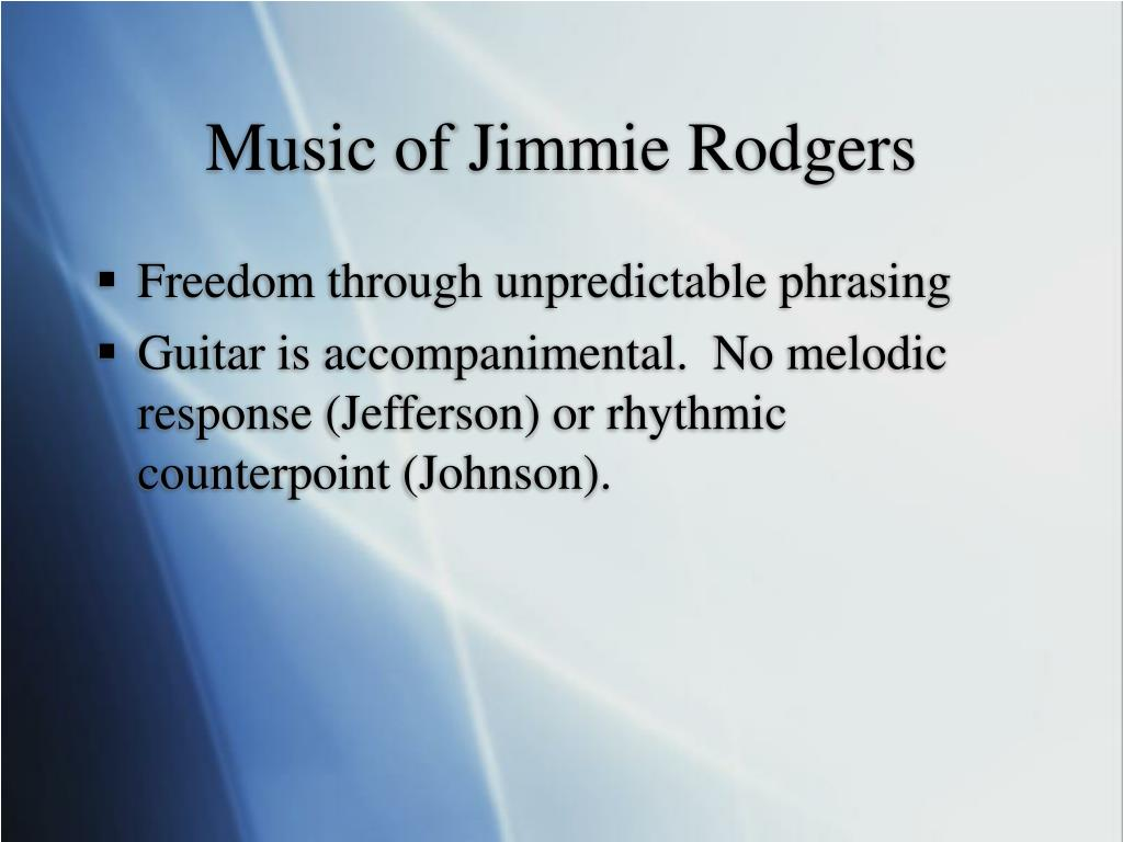 Music of Jimmie Rodgers