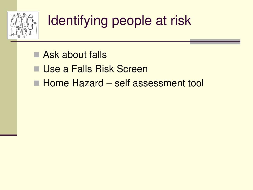 Identifying people at risk